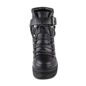 boty dámské BANNED - Platform Buckle - Black, BANNED