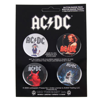 placky AC/DC - Logo, C&D VISIONARY, AC-DC