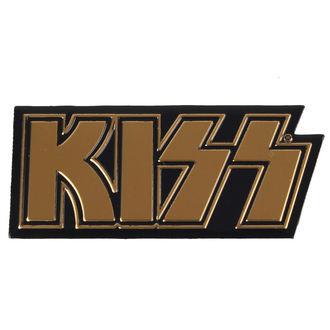 nálepka malá (kovová) Kiss - Logo, C&D VISIONARY, Kiss