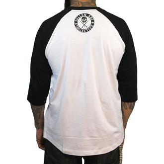 tričko pánské s 3/4 rukávem SULLEN - Badge Of Honor - Wht/Blk
