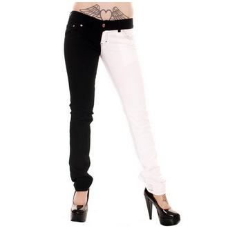 kalhoty dámské 3RDAND56th - Split Leg - Black/White, 3RDAND56th