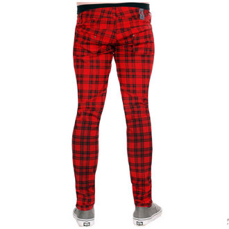 kalhoty (unisex) 3RDAND56th - Checked - Black/Red