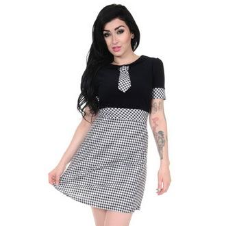 šaty dámské 3RDAND56th - 60's Gingham Tie - Black/White, 3RDAND56th