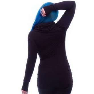 tričko dámské s dlouhým rukávem NECESSARY EVIL - Gothic Dunne - Black, NECESSARY EVIL