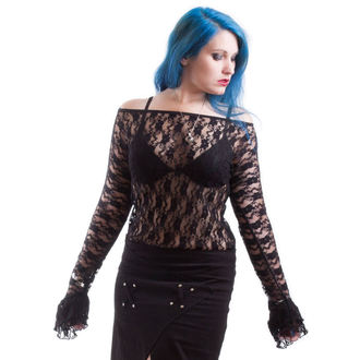 tričko dámské s dlouhým rukávem NECESSARY EVIL - Ziva - Black, NECESSARY EVIL