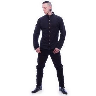 košile pánská NECESSARY EVIL - Chronus - Black, NECESSARY EVIL