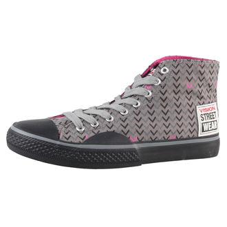 boty dámské VISION - Canvas HI - Grey/Pink - VWF3FWCH01