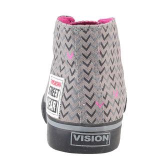 boty dámské VISION - Canvas HI - Grey/Pink