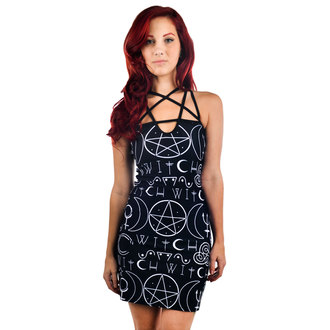 šaty dámské TOO FAST - Pentagram - Witch