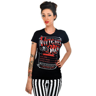 tričko dámské TOO FAST - Witches Brew - Black