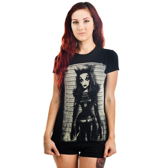 tričko dámské TOO FAST - Catty - Black
