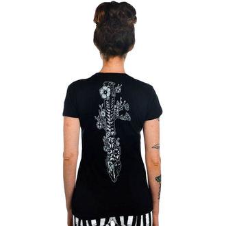 tričko dámské TOO FAST - Flower Spine - Black