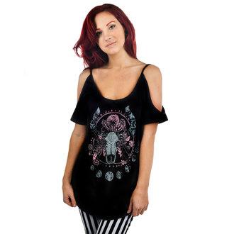 tričko dámské (top) TOO FAST - Cosmic Cow - Black