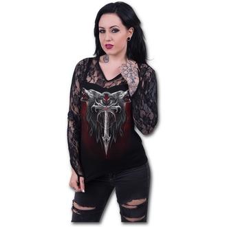 tričko dámské s dlouhým rukávem SPIRAL - Legend Of The Wolves - Black - D063F434