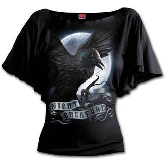 tričko dámské SPIRAL - Night Creature - Black - T116F719