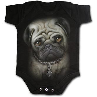 body dětské SPIRAL - Pug Life - Black