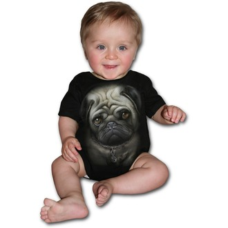 body dětské SPIRAL - Pug Life - Black, SPIRAL
