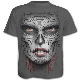tričko pánské SPIRAL - Death Mask - Charcoal - E019M115