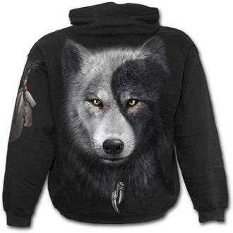 mikina pánská SPIRAL - Wolf Chi - Black - T118M451