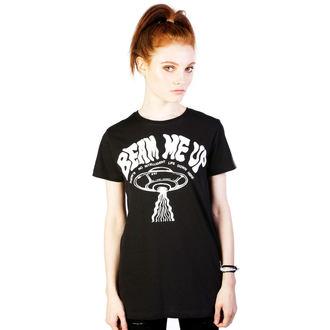 tričko dámské DISTURBIA - Beam Me Up - Black - DIS720
