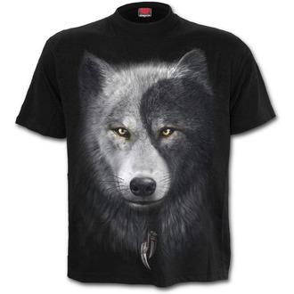 tričko pánské SPIRAL - Wolf Chi - Black - T118M101