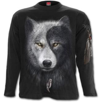 tričko pánské s dlouhým rukávem SPIRAL - Wolf Chi - Black