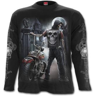 tričko pánské s dlouhým rukávem SPIRAL - Night Church - Black - T121M301
