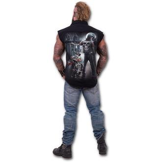košile pánská bez rukávů SPIRAL - Night Church - Black