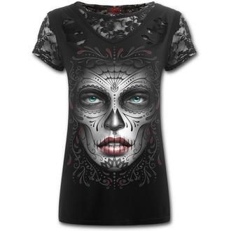 tričko dámské SPIRAL - Death Mask - Black - E019F743