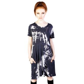 šaty dámské DISTURBIA - Ink - Black/White, DISTURBIA
