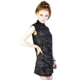 šaty dámské DISTURBIA - Lupine - Black/Grey, DISTURBIA