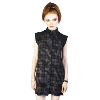 šaty dámské DISTURBIA - Lupine - Black/Grey
