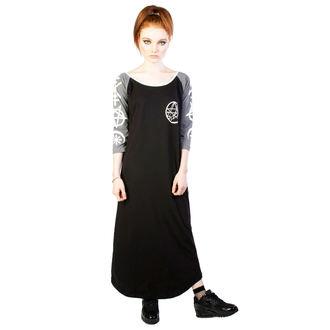 šaty dámské DISTURBIA - Necronomicon - Black/Grey, DISTURBIA