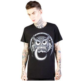 tričko pánské DISTURBIA - Owl - Black - DIS791