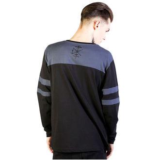 tričko pánské s dlouhým rukávem DISTURBIA - Temple - Black/Grey, DISTURBIA
