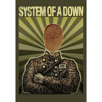 vlajka System Of A Down - Soldier, HEART ROCK, System of a Down