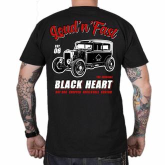 tričko pánské BLACK HEART - HOT ROD A - BLACK, BLACK HEART