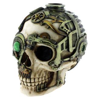 svícen (dekorace) Steampunk Skull - B1479D5