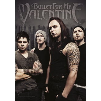 vlajka Bullet For My Valentine - Band Photo, HEART ROCK, Bullet For my Valentine