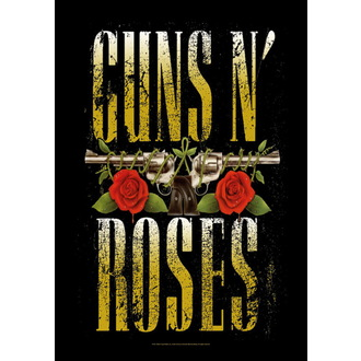vlajka Guns N' Roses - Big Guns, HEART ROCK, Guns N' Roses