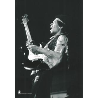 vlajka Jimi Hendrix - B. & W.Guitar, HEART ROCK, Jimi Hendrix