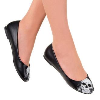 boty dámské (baleríny) BANNED - Black/White - BND023