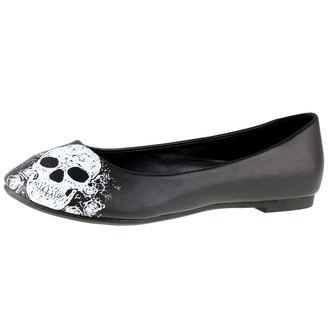 boty dámské (baleríny) BANNED - Black/White, BANNED