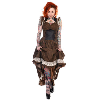 šaty dámské BANNED - Brown Stripe - DBN505
