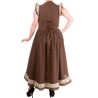 šaty dámské BANNED - Brown Stripe, BANNED