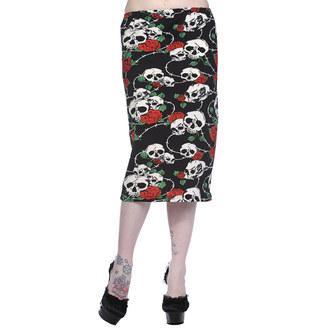sukně dámská BANNED - Black/Red, BANNED