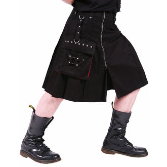 kilt pánský DEAD THREADS - Black - KC9383