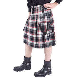 kilt pánský DEAD THREADS - Black/White/Red