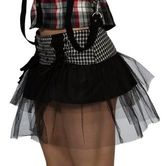 sukně dámská DEAD THREADS - Black/White, DEAD THREADS