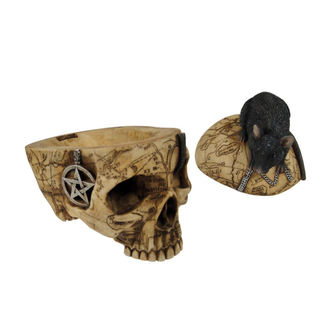 dekorace (krabička) Salem Skull